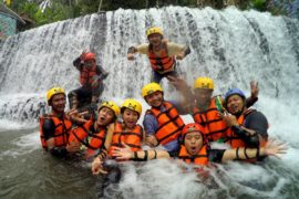 Little Ubud River Tubing, air terjun